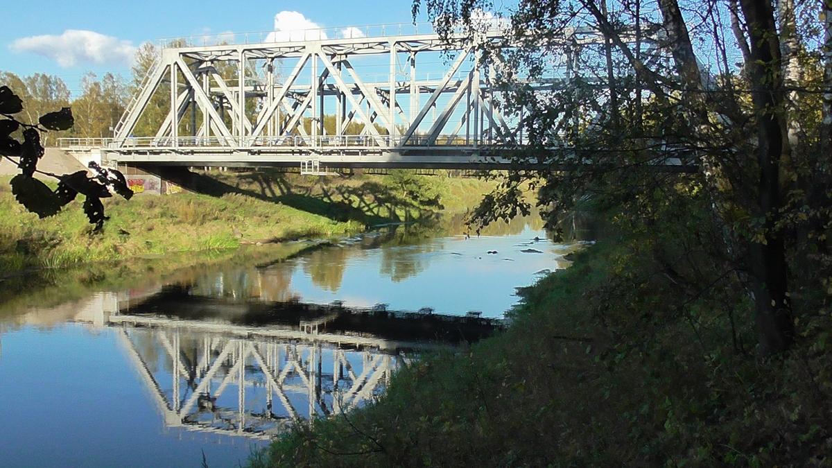 станция Река. ЖД мост
